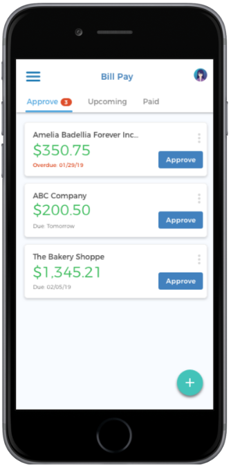 Mobile Bill Pay Approval, Approve Bills on Phone