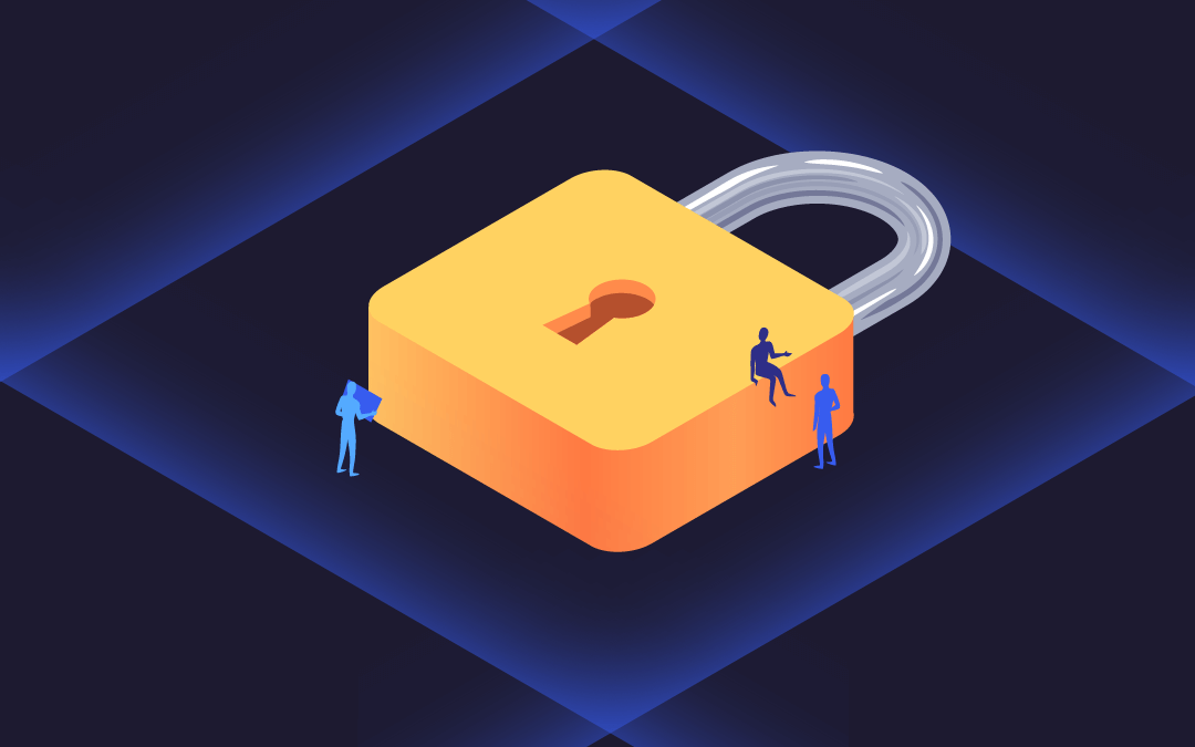 Stylized padlock illustration